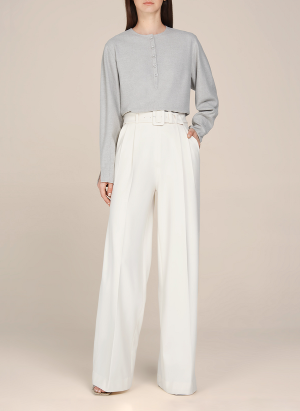 Eva High Waisted Belted Pants