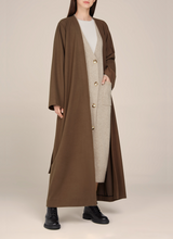 Sandra Light Minimal Belted Coat