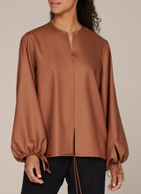 Tie-up Puffed Sleeves Top