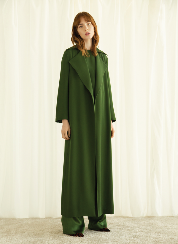 Crepe Long Trench
