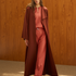 Image 3 of Minimal Loose Belted Coat