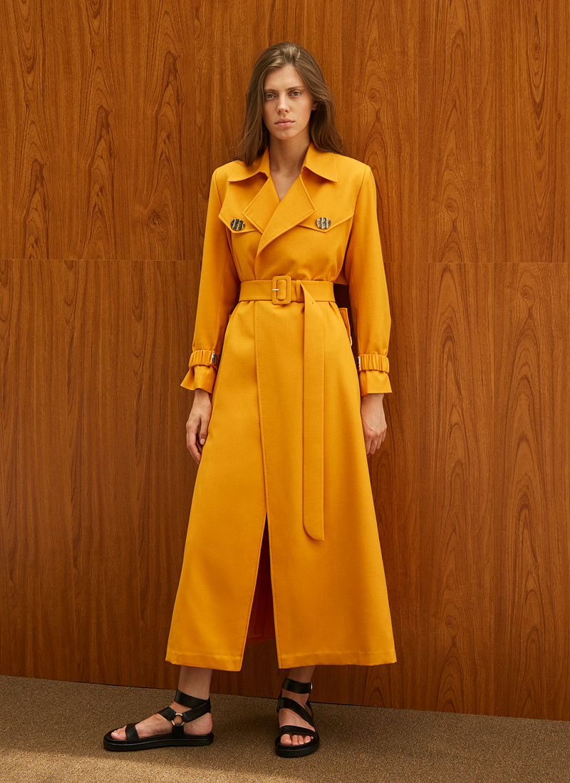 Long Belted Trench