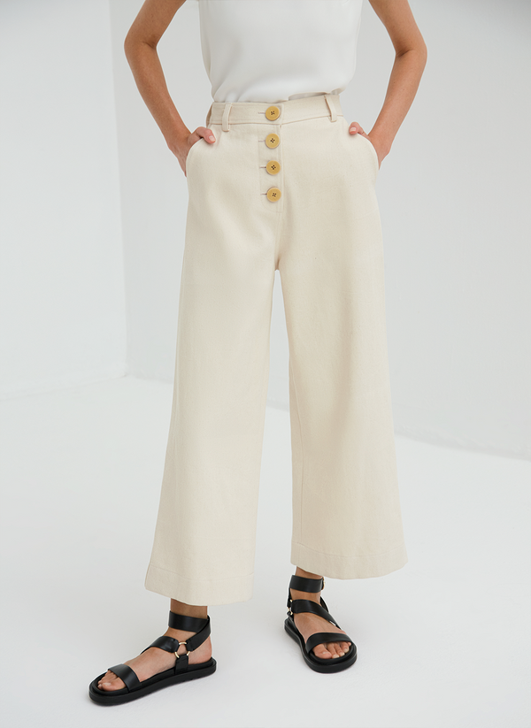 High Waisted Cropped Culottes