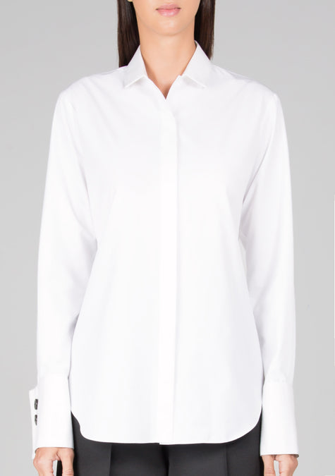 Top - Minimal Belted Shirt - 1299912032325