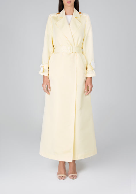 Abaya - A-Line Long Trench - 119748132884