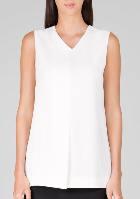 Top - Sleeveless Crepe Top - 119812718612