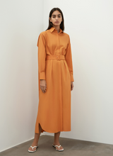 Belted Cotton Shirt Dress