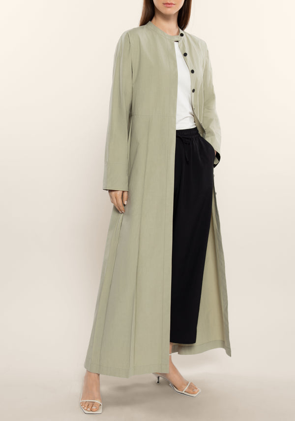 Side Pleats Long Jacket