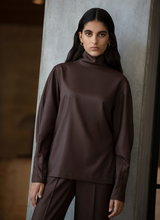 Artemisia Twill Turtleneck Top