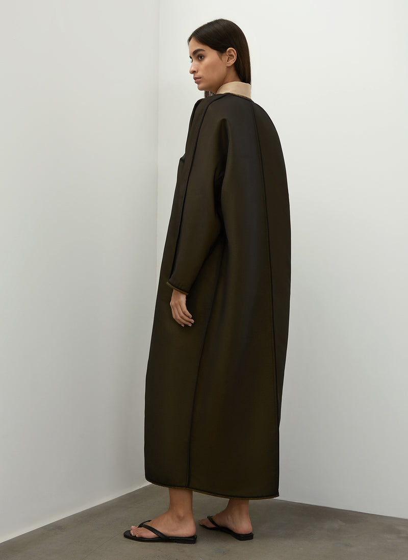 Egg Shape Reversible Long Coat