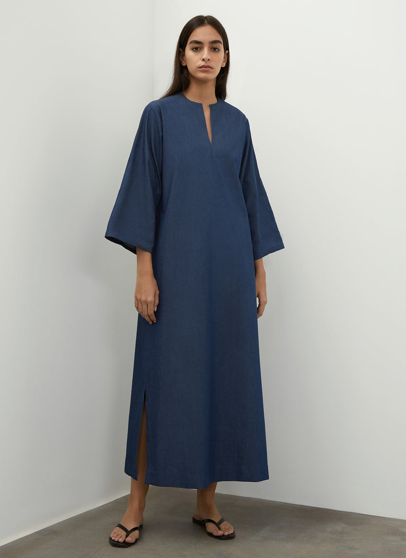 Denim Kaftan Dress
