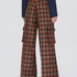 Image 4 of Checked Flaired Pants