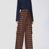 Image 3 of Checked Flaired Pants