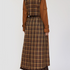 Image 2 of Checked Two Tone Long Trench