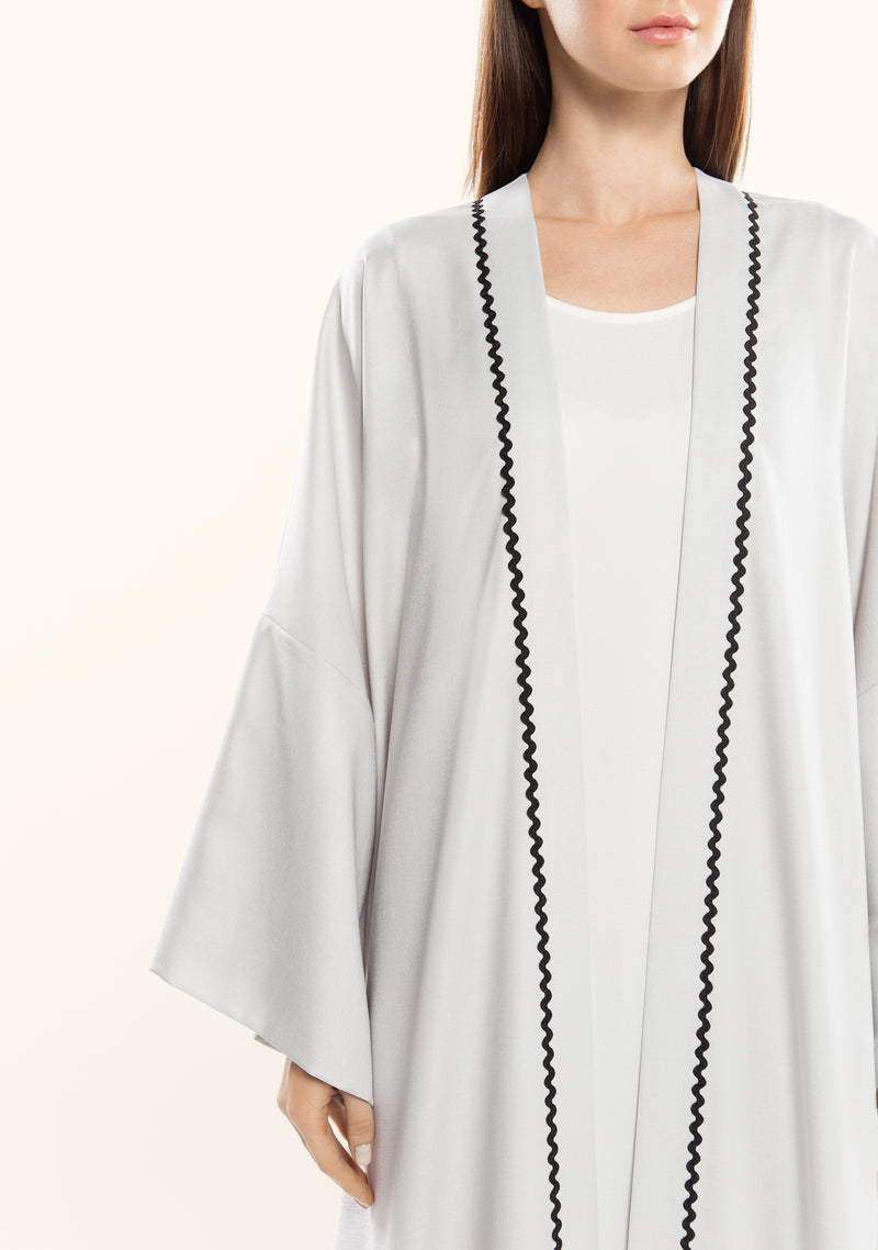 Contrasted Loose Long Cardigan