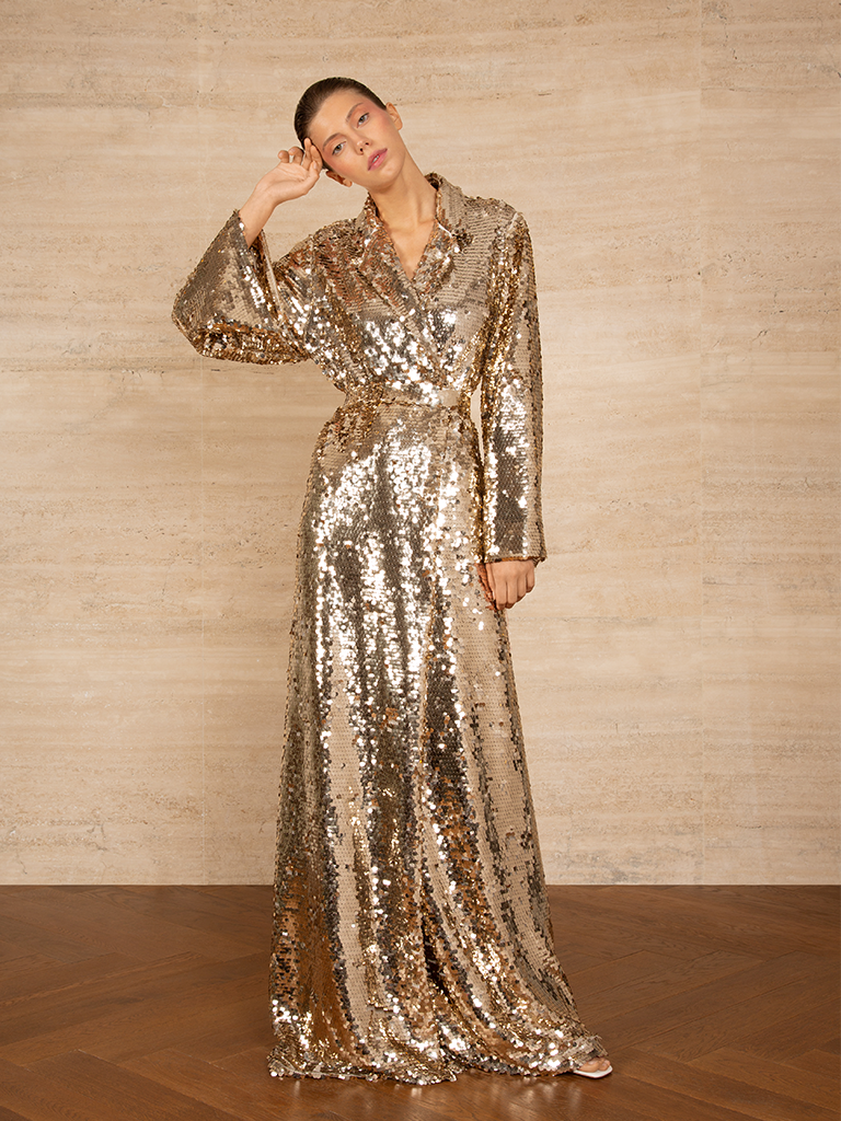 Sequins Robe Dress