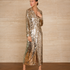 Image 1 of Sequins Long Jacket Dress