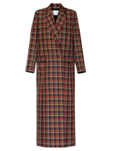 Checked Long Blazer