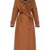 Image 4 of Checked Two tone Long Trench