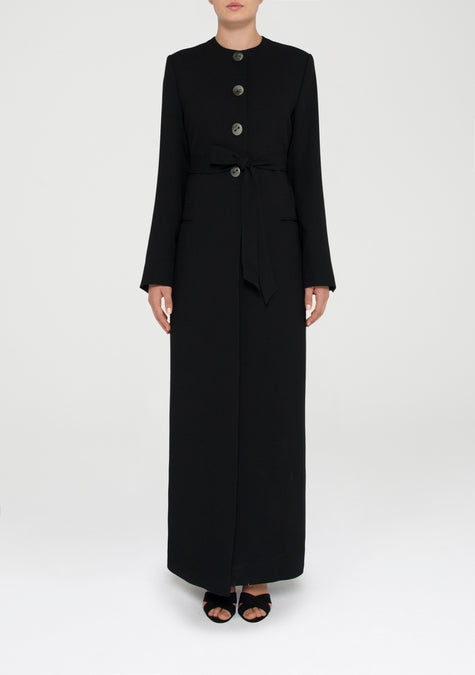 Abaya - Button Up Long Jacket - 11580123796