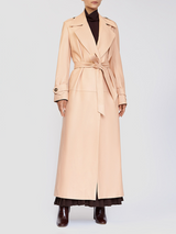 Leather Long Trench