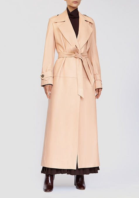 Abaya - Leather Long Trench - 3926431039557
