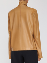 Leather Turtleneck Top