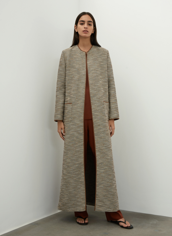 Long Tweed Cardigan
