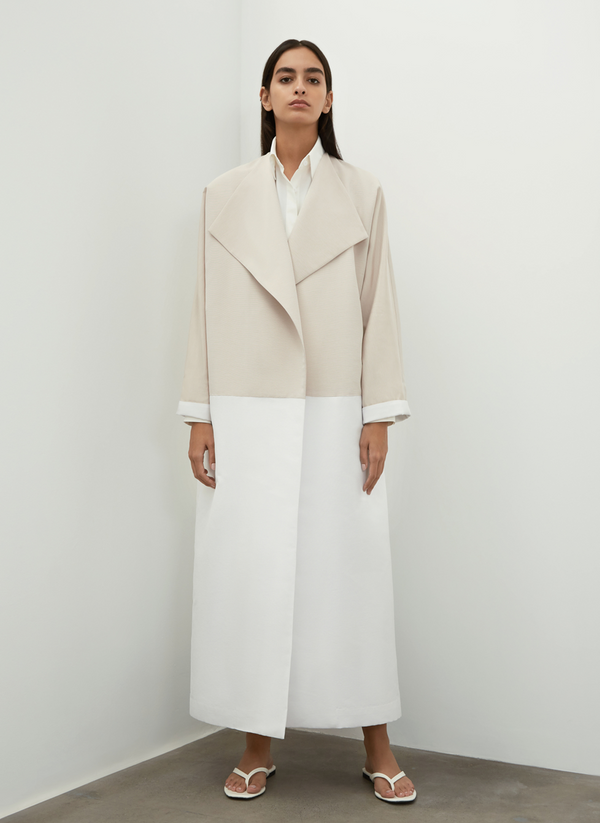 Loose Two-tone Light Coat