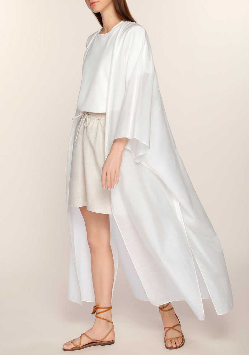 Wafa Light Cape in White