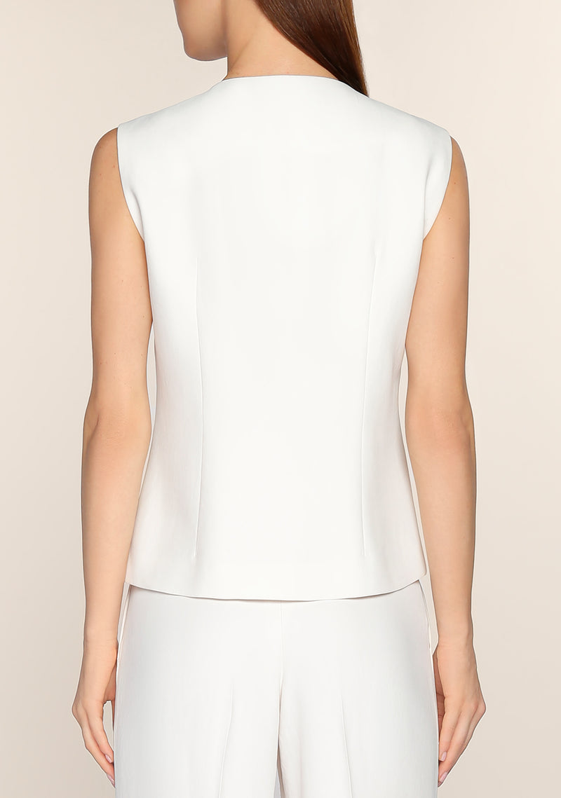 Liezl Minimal Vest in White
