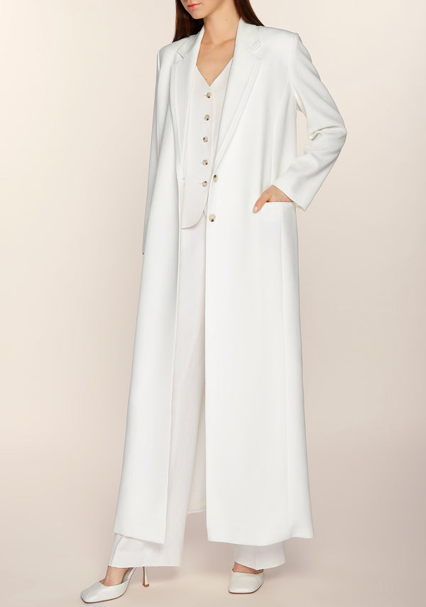 Salama Long Blazer in Ivory
