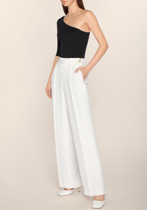 Liezl High Waisted Pants in White