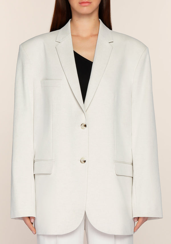Gemma Oversized Blazer in Natural