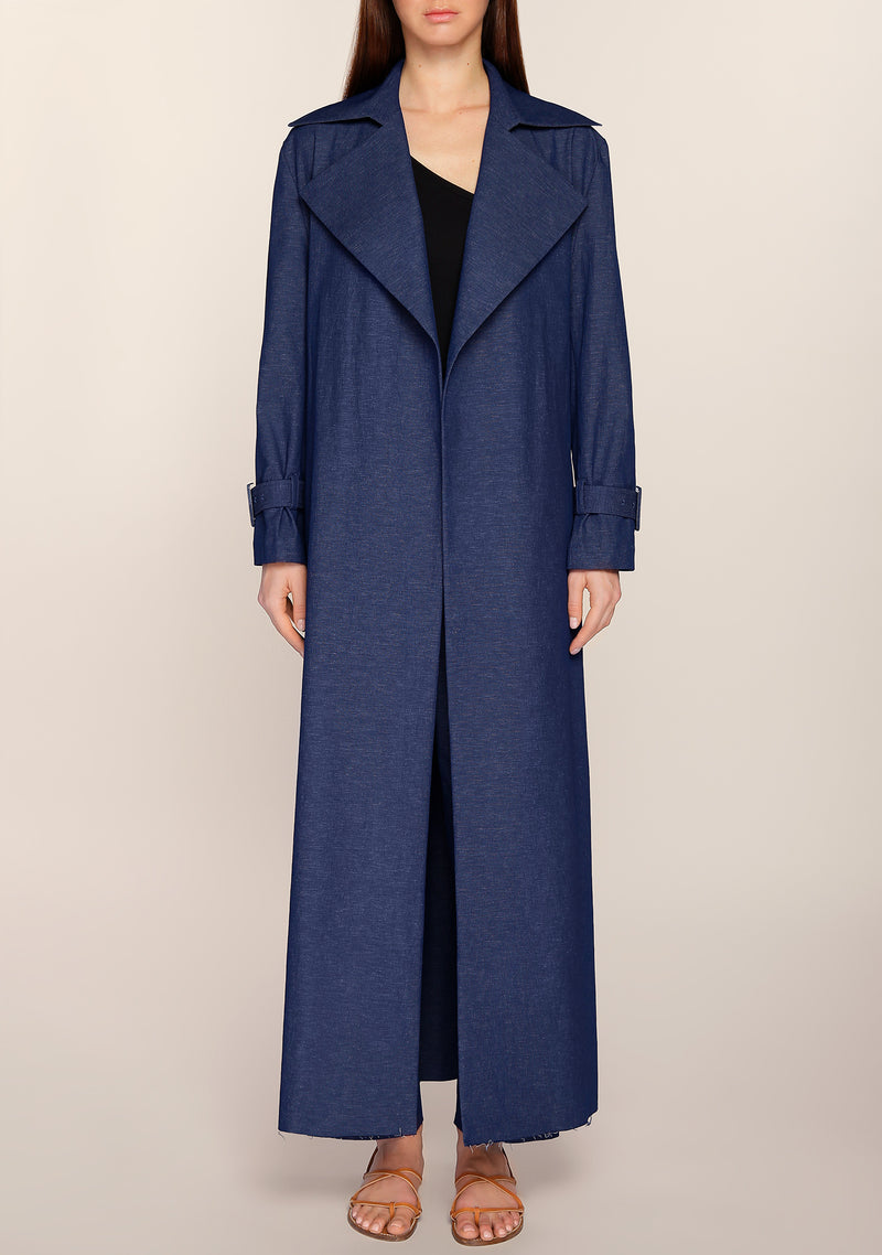 Mai Denim Light Trench