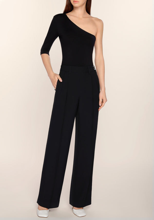 Liezl High Waisted Pants in Black