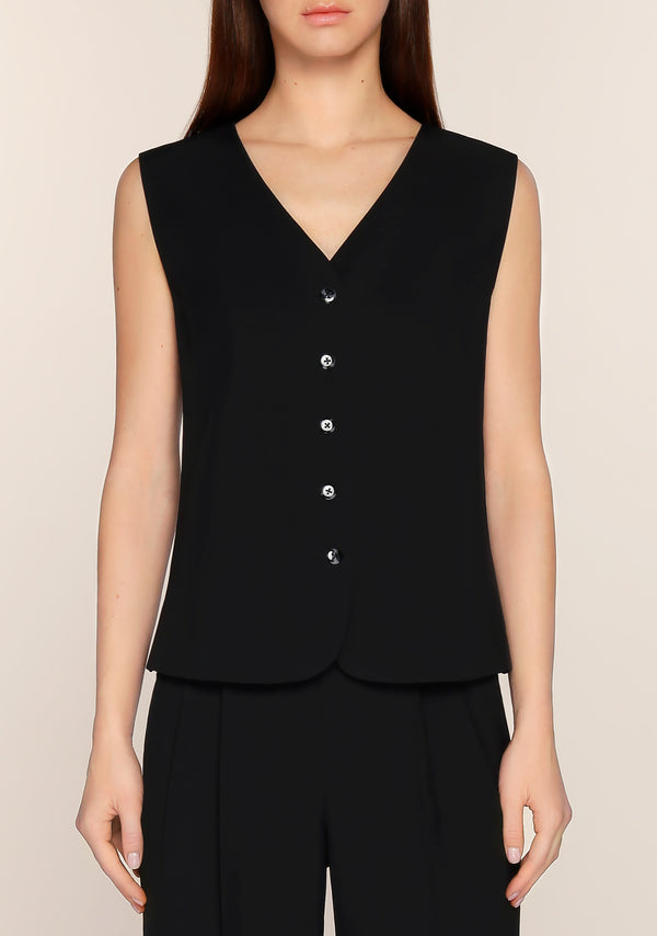 Liezl Minimal Vest in Black