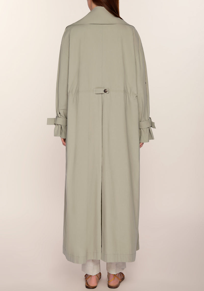 Hannah Oversized Trench in Sage Green