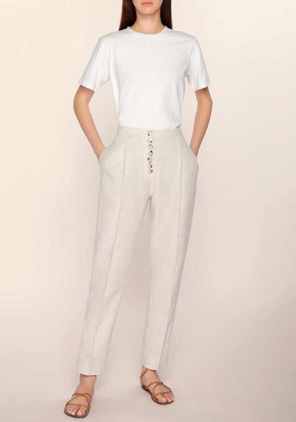 Luann Tapered Linen Pants