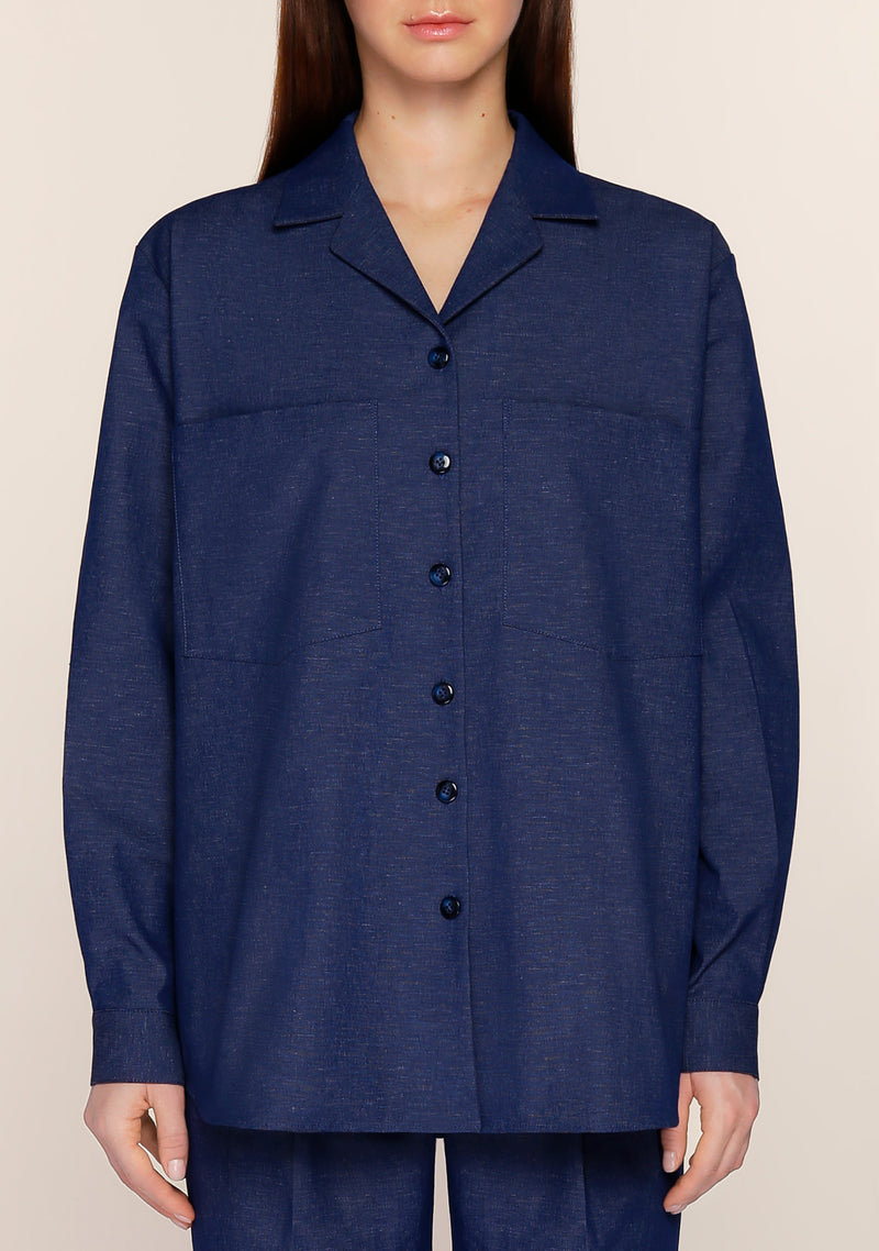 Addis Twill Shirt in Denim