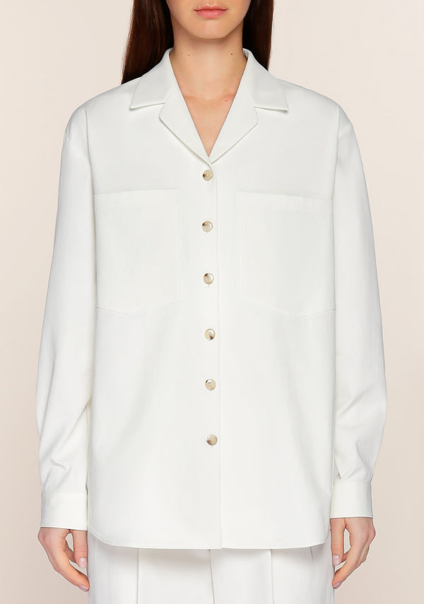 Addis Twill Shirt in White