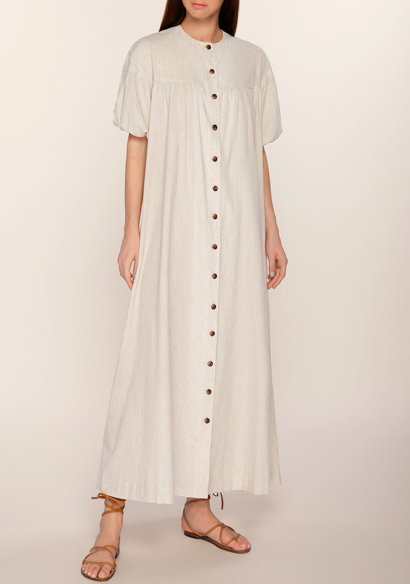 Luann Button-Down Flaired Dress