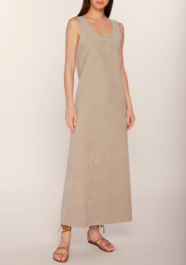 Afreen Suede Slip Dress