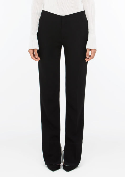 Pants - Two Tone Straight-leg Pants - 1507186638917