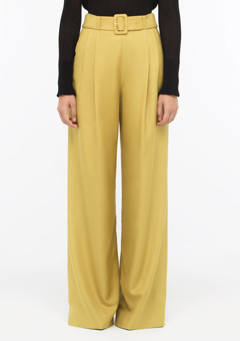 Pants - High Waist Wide Leg Pants - 1501007839301