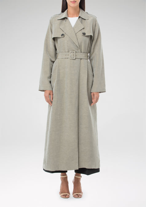 Abaya - Long Linen Trench - 1310407721029