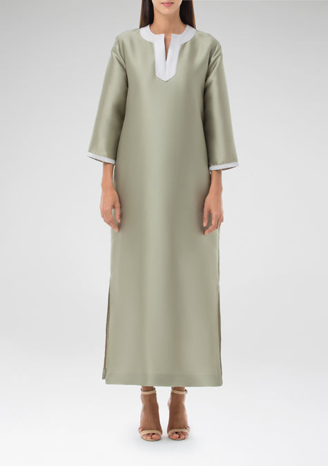 Dress - Two Tone Kaftan - 1301014577221