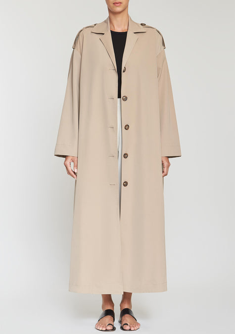 Abaya - Oversized Long Trench - 2041273122885