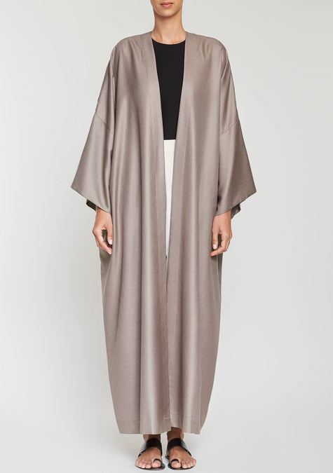 Abaya - Minimal Twill Long Cardigan - 2108101591109