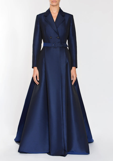 Dress - Belted Jacket Gown - 1704259223621
